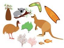 Insieme dell'Australia illustrazione vettoriale