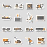 Insieme dell'autoadesivo di due colori di trasporto e di imballaggio di carico Fotografia Stock Libera da Diritti