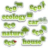 Insieme dell'autoadesivo di ecologia Royalty Illustrazione gratis