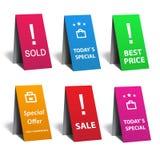 Insieme dell'autoadesivo di vendita Immagini Stock