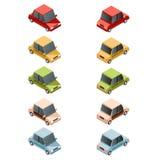 Insieme dell'automobile isometrica icons2 Fotografie Stock