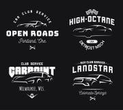 Insieme dell'automobile sportiva moderna e del logo di SUV Fotografie Stock