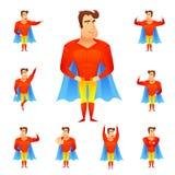 Insieme dell'avatar del supereroe Fotografia Stock Libera da Diritti