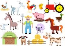 Insieme dell'azienda agricola Immagini Stock Libere da Diritti