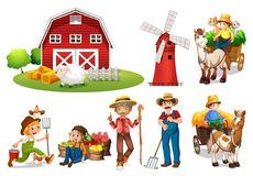 Insieme dell'azienda agricola illustrazione vettoriale