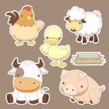 Insieme dell'azienda agricola di animali Immagine Stock Libera da Diritti