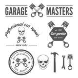 Insieme dell'elemento di logo, del distintivo, dell'emblema e del logotype Immagine Stock