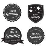 Insieme dell'emblema rotondo di alta migliore qualità Fotografie Stock