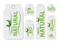 Insieme dell'etichetta del prezzo da pagare di vettore per il prodotto naturale Alimento organico sano fresco del vegano Etichett Fotografie Stock Libere da Diritti
