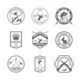 Insieme dell'etichetta di caccia illustrazione di stock