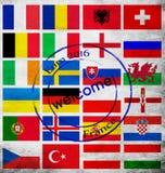 Insieme dell'euro 2016 gruppi Fotografia Stock