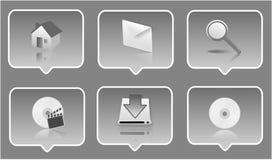 insieme dell'icona 3d Fotografie Stock