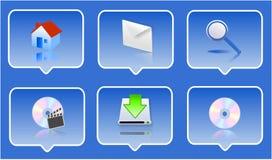 insieme dell'icona 3d Fotografia Stock