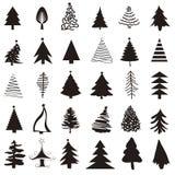Insieme dell'icona dell'albero di Natale royalty illustrazione gratis