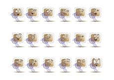 Insieme dell'icona dell'avatar del francobollo Immagine Stock Libera da Diritti