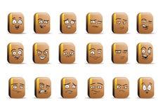 Insieme dell'icona dell'avatar del libro del raccoglitore Fotografie Stock Libere da Diritti