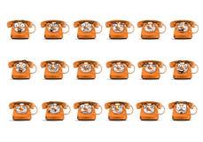 Insieme dell'icona dell'avatar del telefono sull'isolato su Immagini Stock