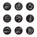 Insieme dell'icona degli alimenti illustrazione di stock