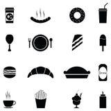 Insieme dell'icona degli alimenti a rapida preparazione Immagine Stock Libera da Diritti