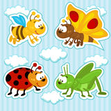 Insieme dell'icona degli insetti Fotografia Stock Libera da Diritti