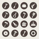 Insieme dell'icona degli strumenti illustrazione di stock