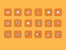 Insieme dell'icona dei bottoni del fumetto delle azione di vettore illustrazione di stock