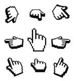 insieme dell'icona dei cursori della mano 3d Fotografia Stock