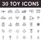 Insieme dell'icona dei giocattoli Immagini Stock Libere da Diritti