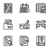 Insieme dell'icona dei soldi, stile del profilo illustrazione vettoriale