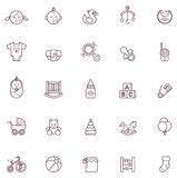 Insieme dell'icona del bambino illustrazione vettoriale