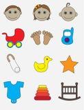 Insieme dell'icona del bambino Fotografie Stock Libere da Diritti