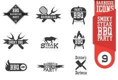 Insieme dell'icona del barbecue illustrazione vettoriale