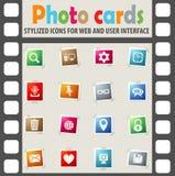 Insieme dell'icona del blog Immagine Stock