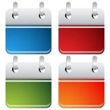 Insieme dell'icona del bottone della gestione di tempo Fotografia Stock