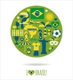 Insieme dell'icona del Brasile Fotografia Stock