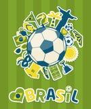Insieme dell'icona del Brasile Immagine Stock