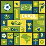 Insieme dell'icona del Brasile Immagine Stock Libera da Diritti