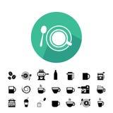 Insieme dell'icona del caffè e della tazza royalty illustrazione gratis