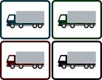 Insieme dell'icona del camion di consegna Immagini Stock Libere da Diritti
