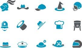 Insieme dell'icona del cappello Immagini Stock Libere da Diritti