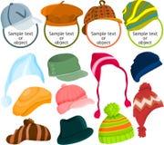 Insieme dell'icona del cappello Fotografia Stock Libera da Diritti
