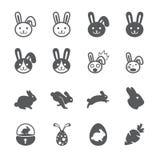 Insieme dell'icona del coniglio illustrazione vettoriale