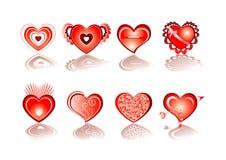 Insieme dell'icona del cuore Fotografia Stock