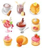 Insieme dell'icona del dessert Immagine Stock Libera da Diritti