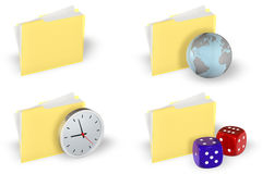 Insieme dell'icona del dispositivo di piegatura illustrazione di stock