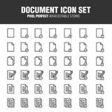 Insieme dell'icona del documento illustrazione di stock