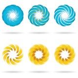 Insieme dell'icona del fiore di logo Royalty Illustrazione gratis