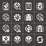 Insieme dell'icona del ftp di vettore illustrazione vettoriale