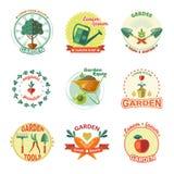 Insieme dell'icona del giardino illustrazione vettoriale