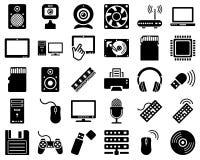 Insieme dell'icona del hardware Immagini Stock